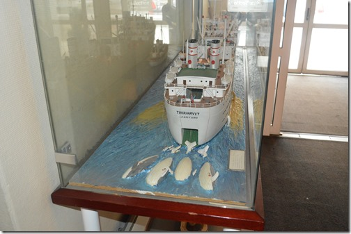 Hotel Atlantic whaling ship model