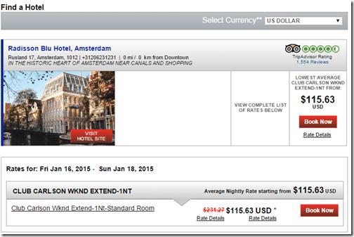 Carlson 2-4-1 Rad Blu Amsterdam