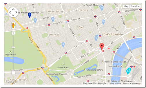 London Club Carlson hotel map-1