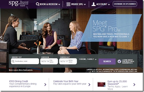 SPG homepage