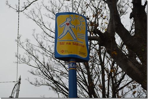 Irish walking sign
