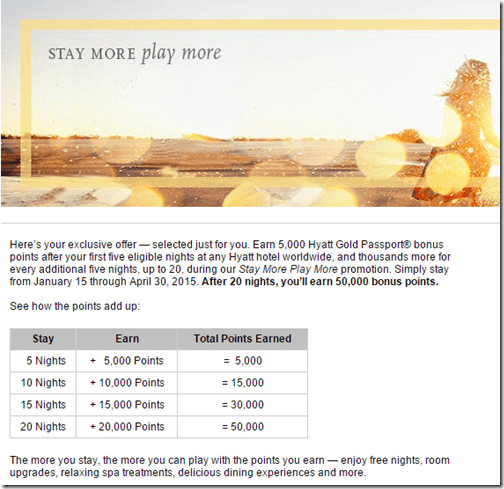 Hyatt Stay More Play More