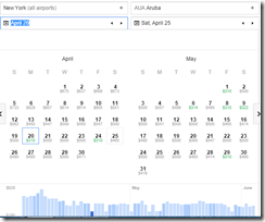 Google Flights NYC-AUA April-May-2015