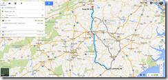 Google Maps Lumberton NC Rocky Mount VA 220m