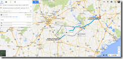 Google Maps Macon to Columbia SC 200m