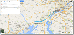Google Maps North East MD to PHL