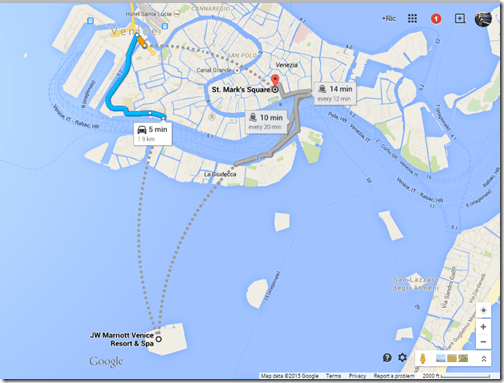 JW Marriott Venice Google maps