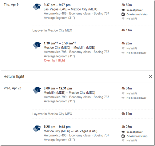 LAS-MDE April 9-22 $420