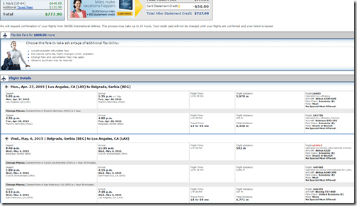 LAX-BGE Belgrade April27-May6 $778