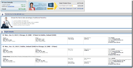 ORD-DUB United $772 June 2015