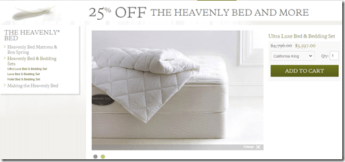 Westin bedding