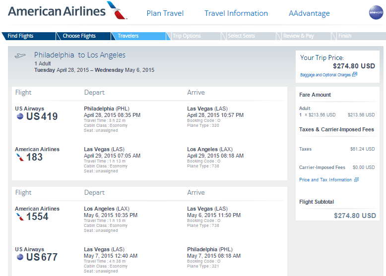 Why You Should Search One Way Fares American Airlines Phl