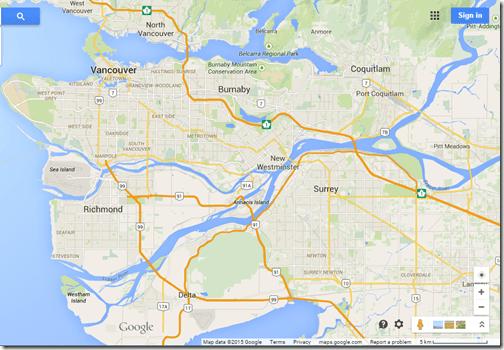 Google Maps Richmond BC