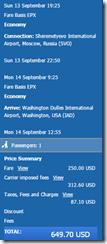 IAD-SKG Thessaloniki Aeroflot $650