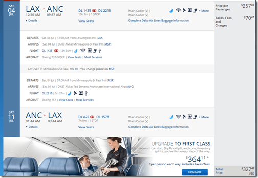LAX-ANC DL $328 July15