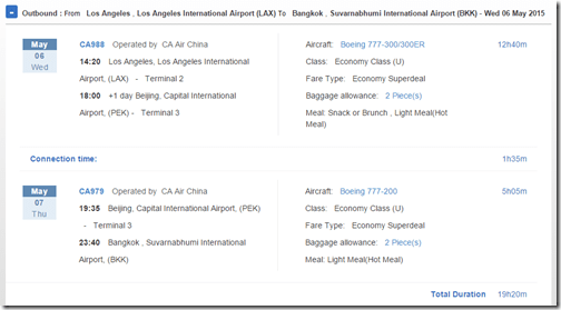 LAX-BKK Air China $680 May 2015