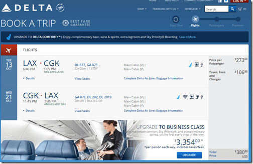 LAX-CGK DL $380.50