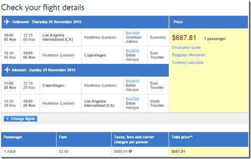 LAX-CPH BA Nov15 $688