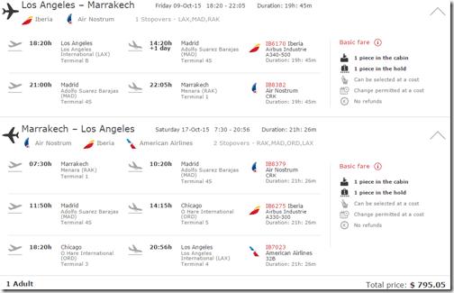 LAX-RAK Marrakesh $795 Iberia Oct15