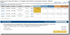 LAX-VVI Santa Cruz Bolivia Copa May 15 $665