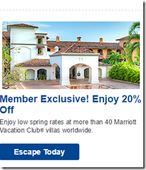 Marriott Vacation Club offer