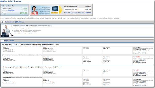 SFO-JNB $941 LX-UA April15