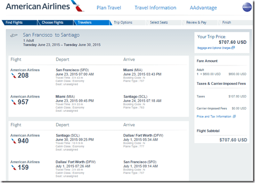 SFO-SCL $708 AA June 23-30