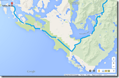 Tofino peninsula map