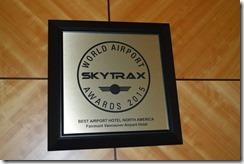 Fairmont YVR SkyTrax award