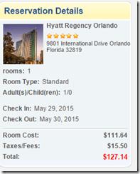 Hyatt Regency Orlando $127
