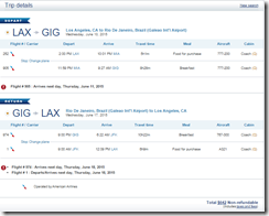 LAX-GIG $642 AA June15