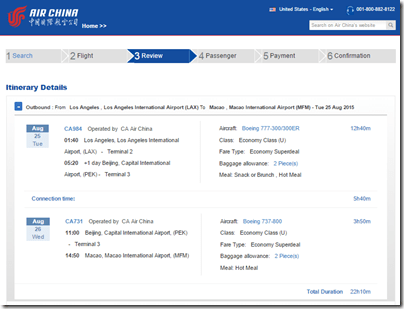 LAX-MFM $597 Air China Aug15