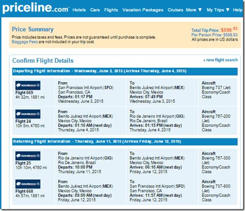 SFO-GIG $599 Aeromexico June3-11-15