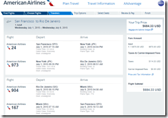 SFO-GIG July15 AA $685