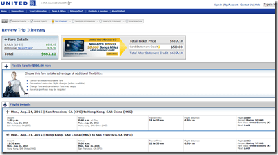 SFO-HKG UA nonstop $687 Aug15