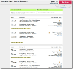 SFO-SIN SQ $665 Sep15