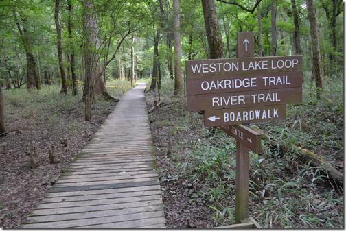 Congaree boardwalk trail sign