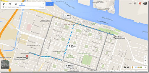 Google Maps Historic Savannah
