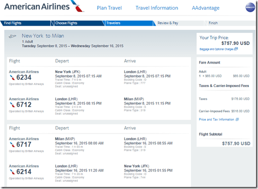 JFK-MXP $758 AA-BAop Sep15