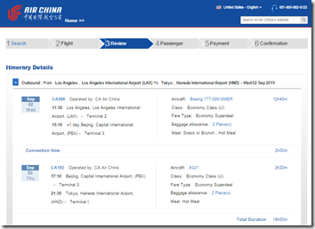 LAX-HND-1 Air China $687