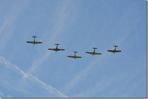 Battle of Britain 75th flyover