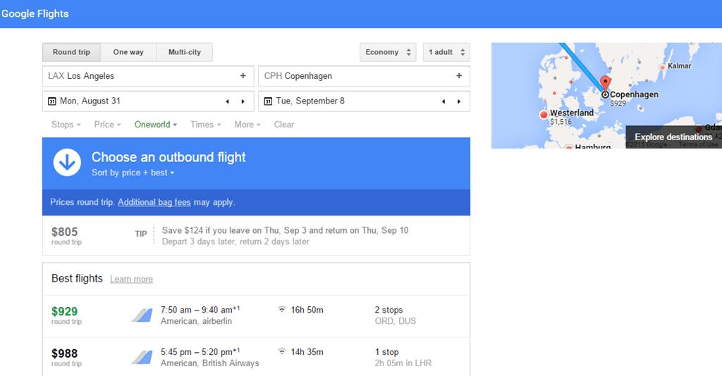 using google flights. Black Bedroom Furniture Sets. Home Design Ideas