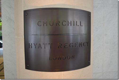 Hyatt Churchill sign
