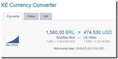 XE 1560 BRL-$475 USD