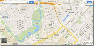 Google Maps Boston Back Bay