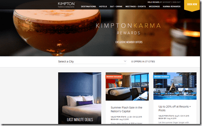 Kimpton Karma Exclusive member rates