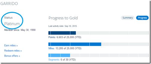 AAdvantage Platinum status bar Ric 2015