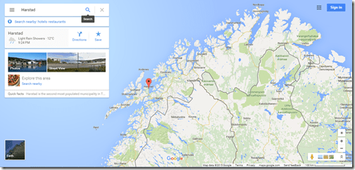 Google Maps Harstad