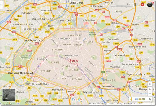 Google Maps Paris