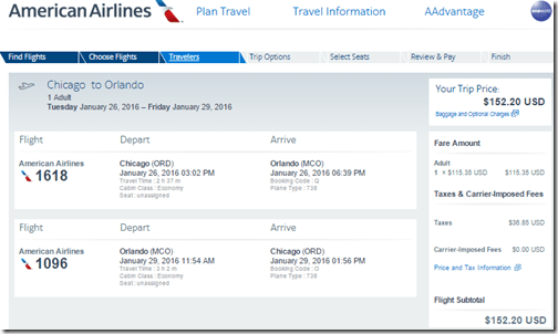 ORD-MCO $152 AA Jan 26-29